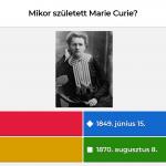 Kahoot kvíz (Marie Curie)