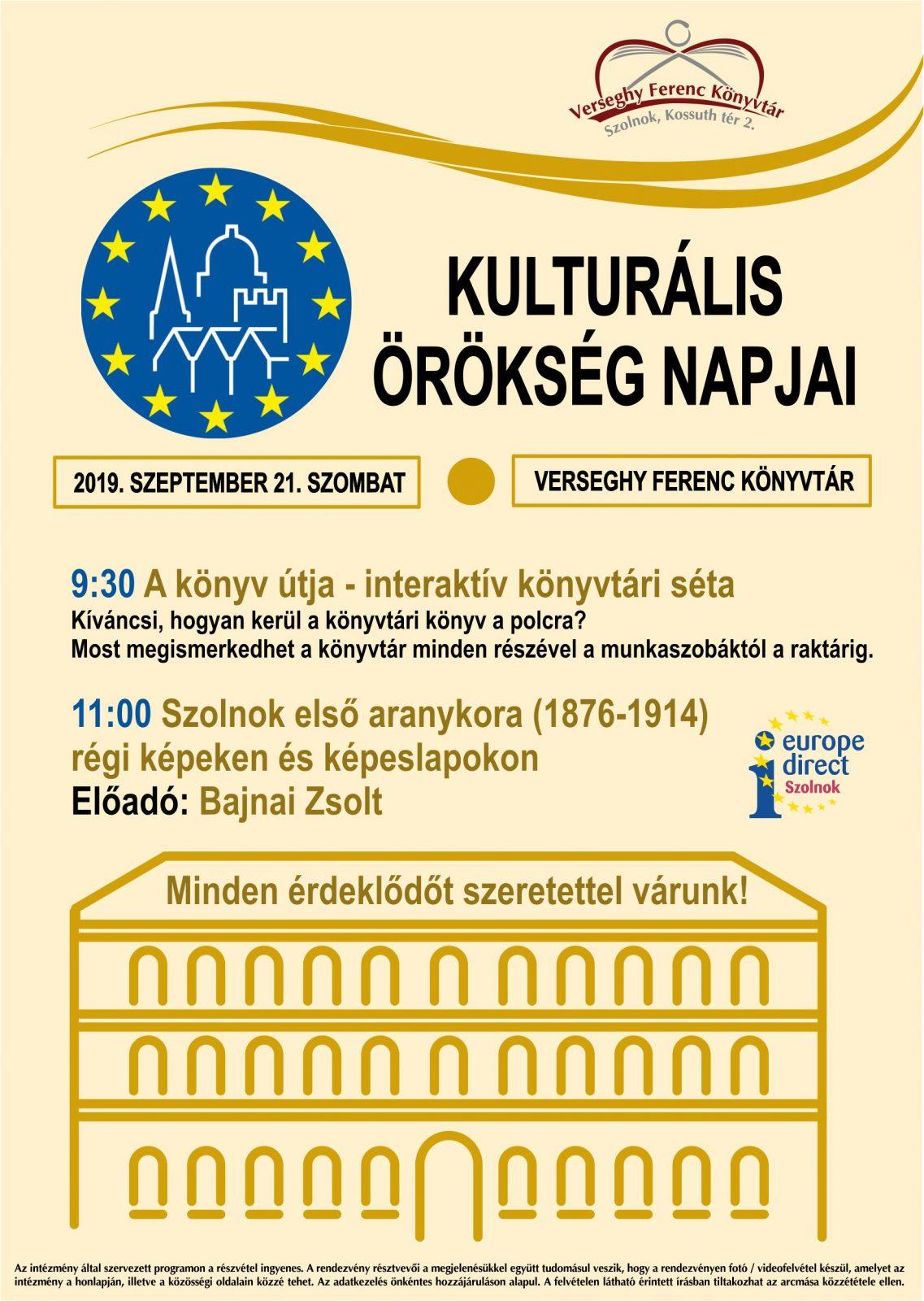 Kultúrális Örökség Napja 2019.09.21