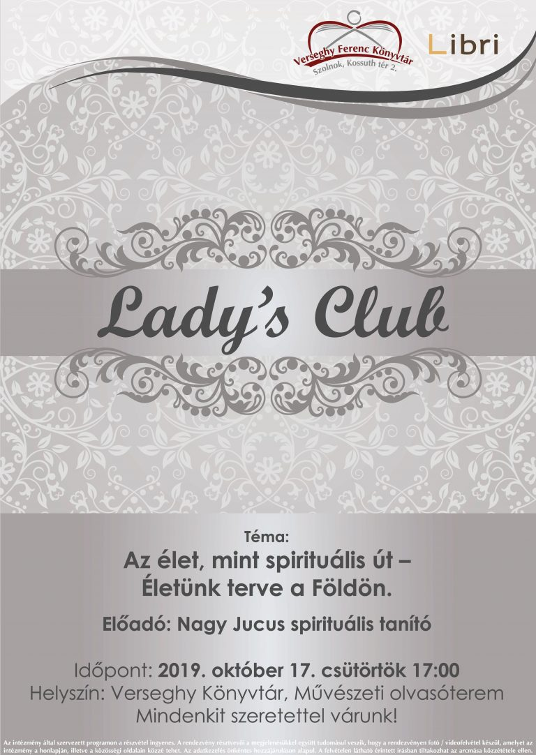 2019.10.17. Lady's Club. Plakát