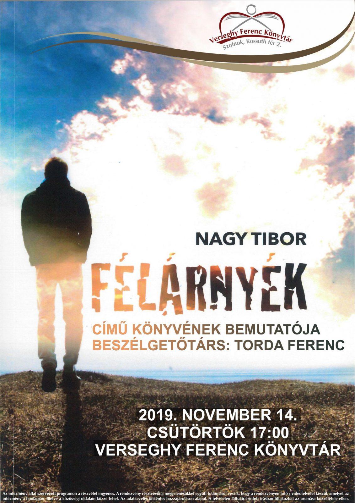 2019.11.14.Nagy Tibor író-olvasó találkozó. Plakát
