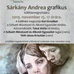 2019.11.15.-30. Sárkány Andrea kiállítás. Plakát