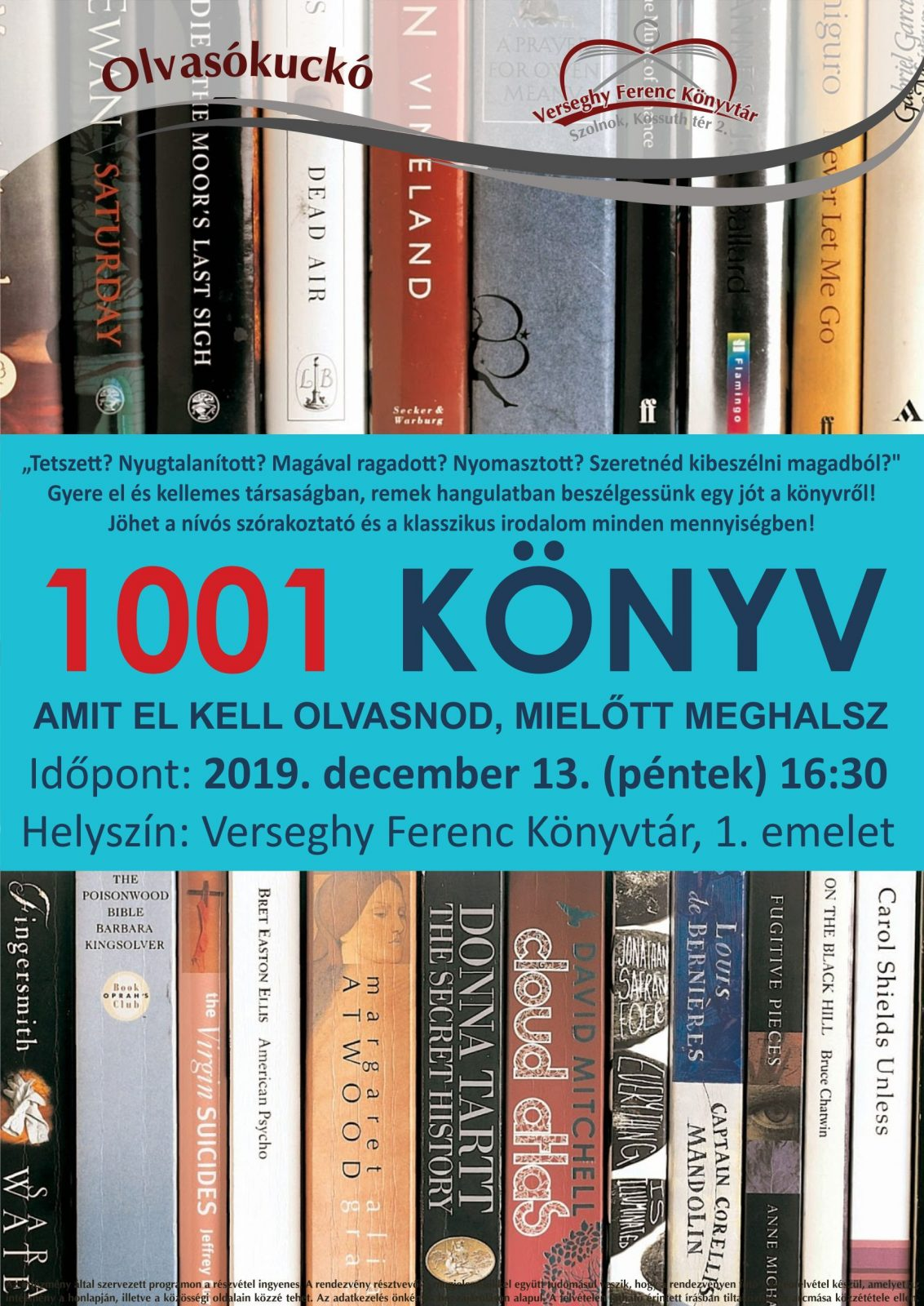 2019.12.13. Olvasókuckó. Plakát