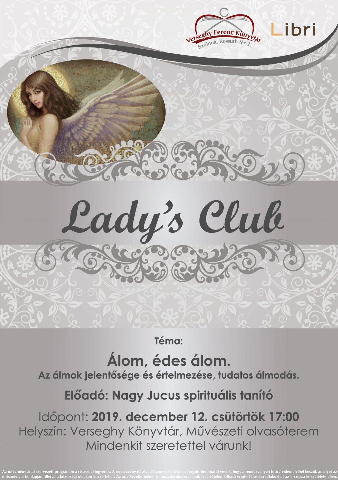 2019.12.12. Lady's Club. Plakát