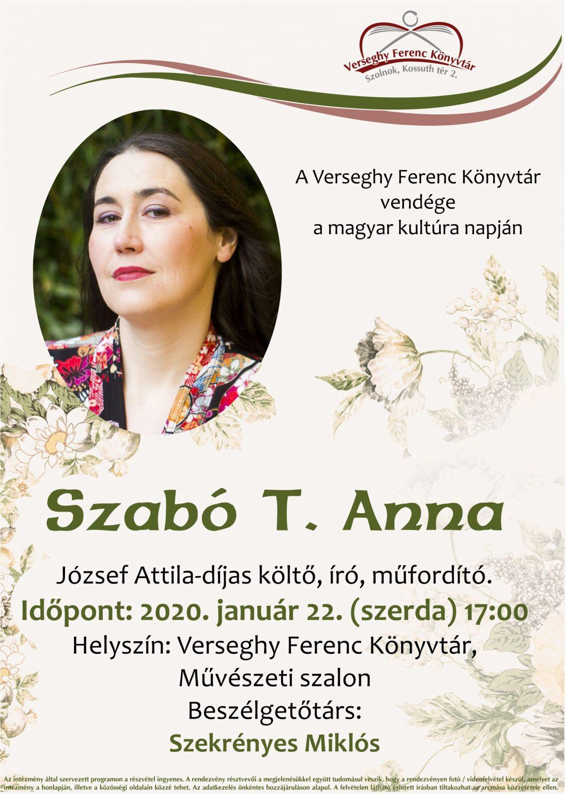 2020.01.22. Szabó T. Anna. Plakát.
