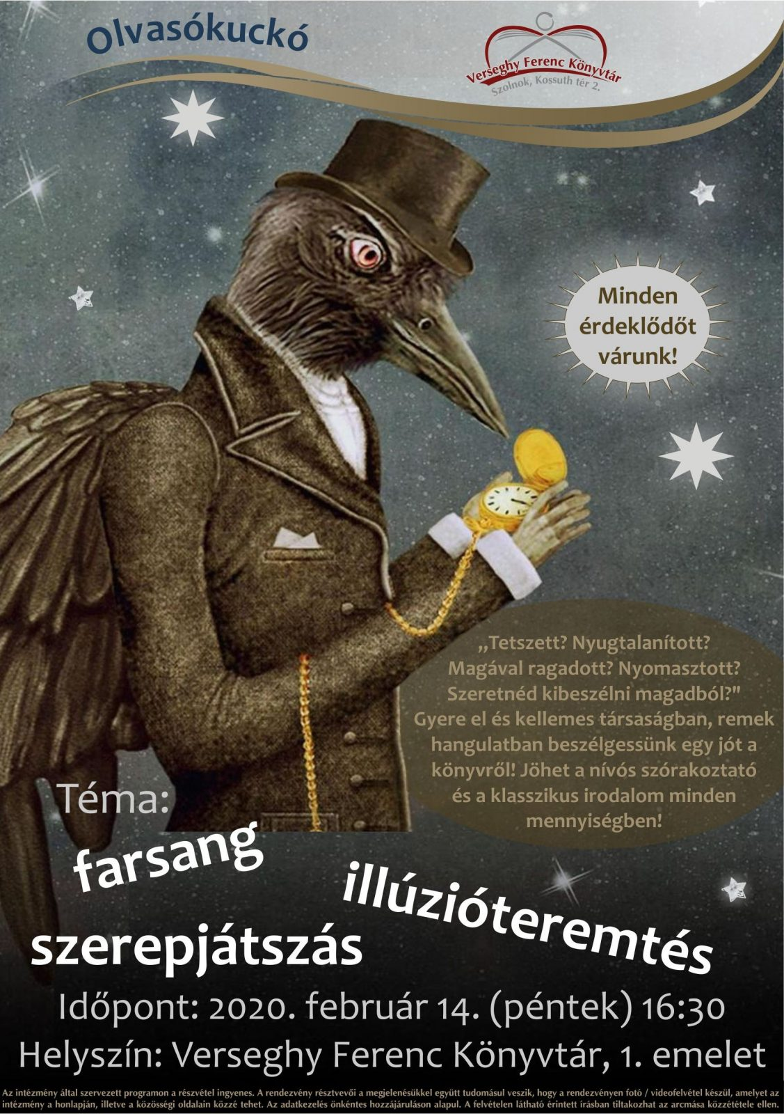 2020.02.14. Olvasókuckó. Plakát