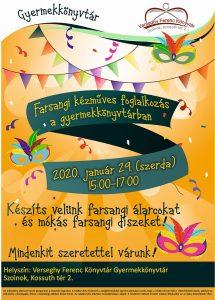 Farsangi kézműves plakátja