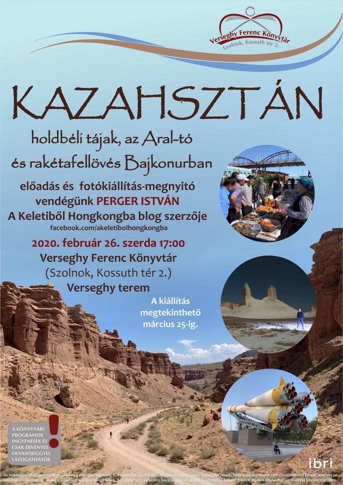 2020.02.26. Kazahsztán. Előadás és Kiállításmegnyitó. Plakát