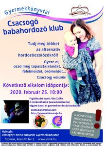 Babahordozó klub plakátja
