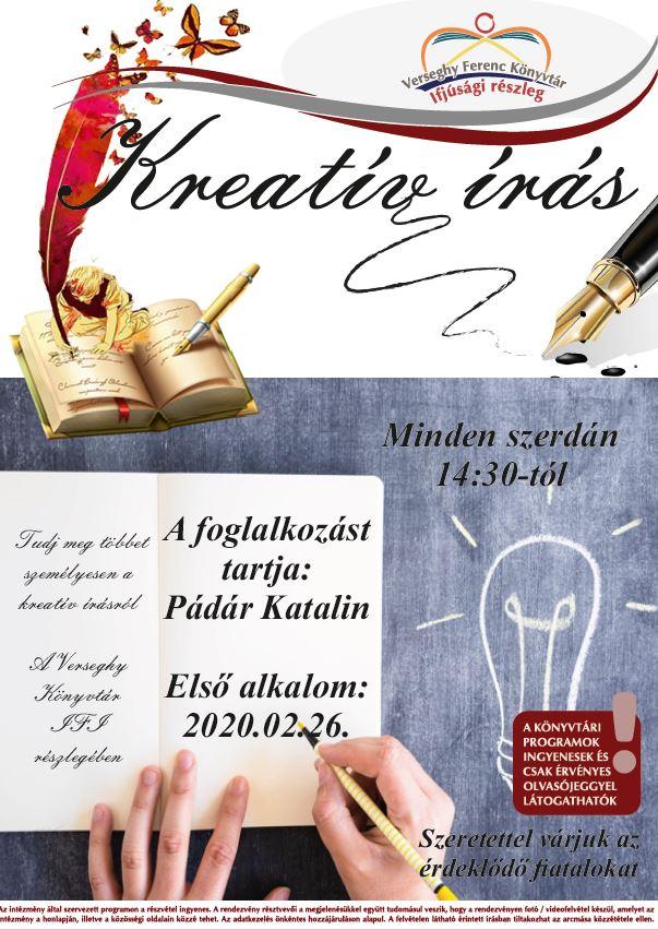 2020. Kreatív Írás. Plakát.