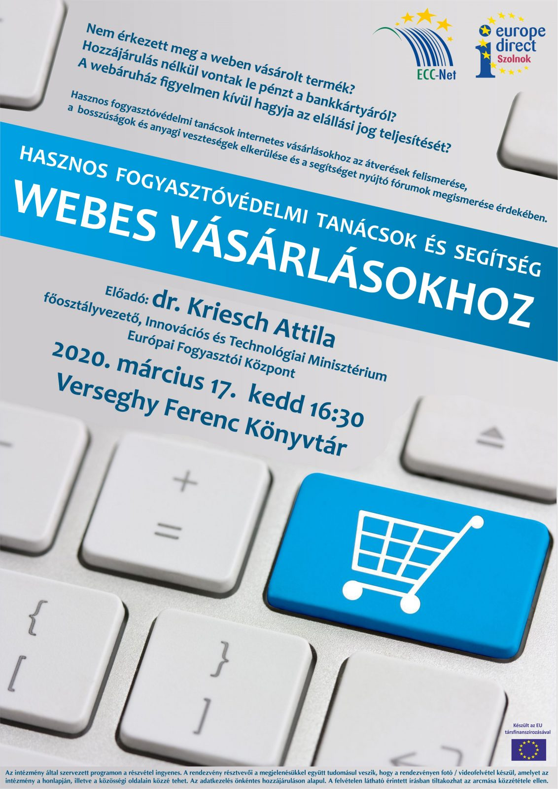 2020.03.17. Webes Vásárlás. Kriesch. Plakát