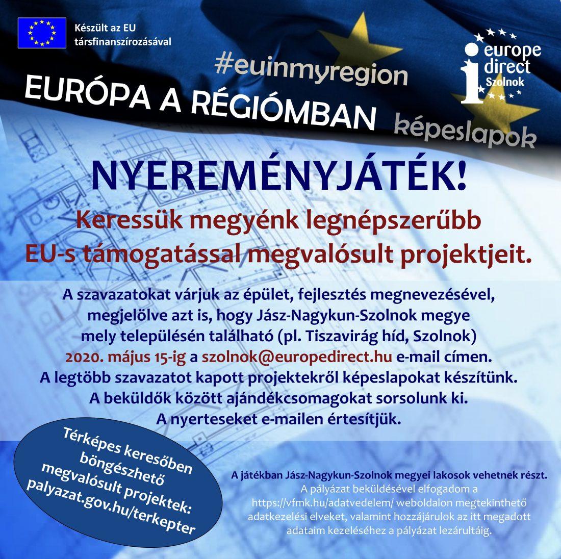 2020. EURÓPA A RÉGIÓMBAN - NYEREMÉNYJÁTÉK. Plakát