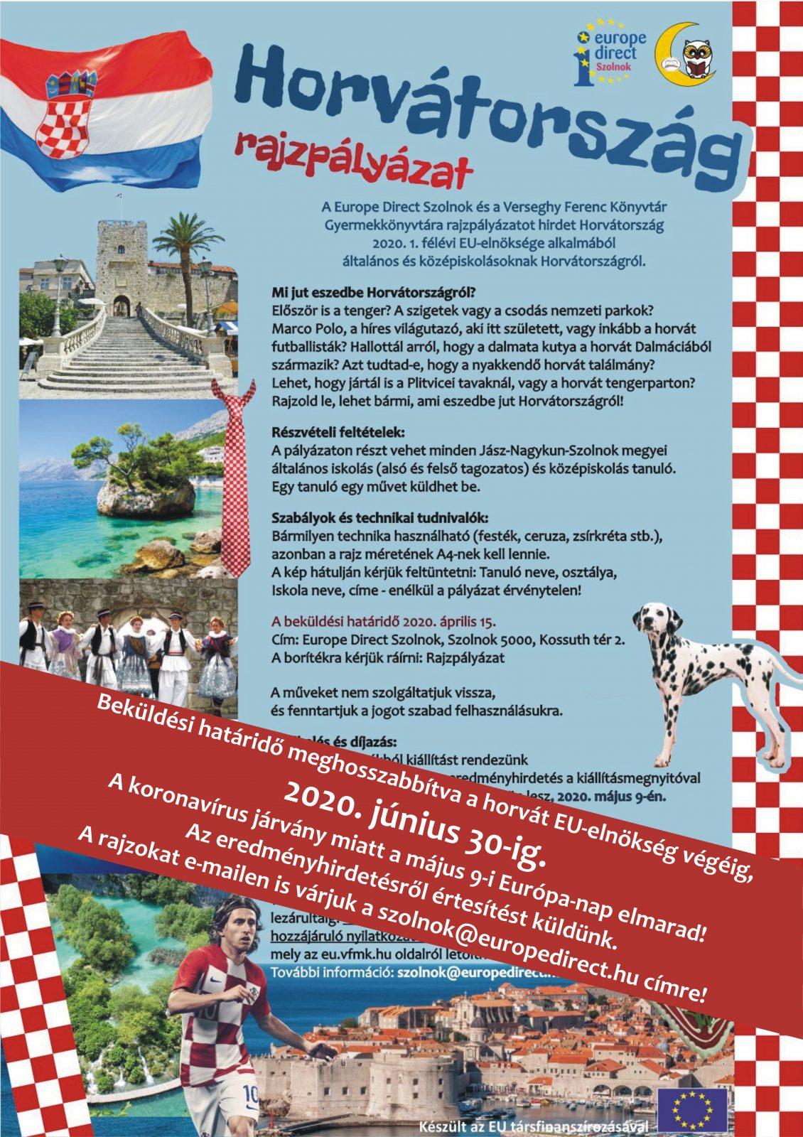 2020. Horvátország Rajzpályázat meghosszabbítva. Plakát