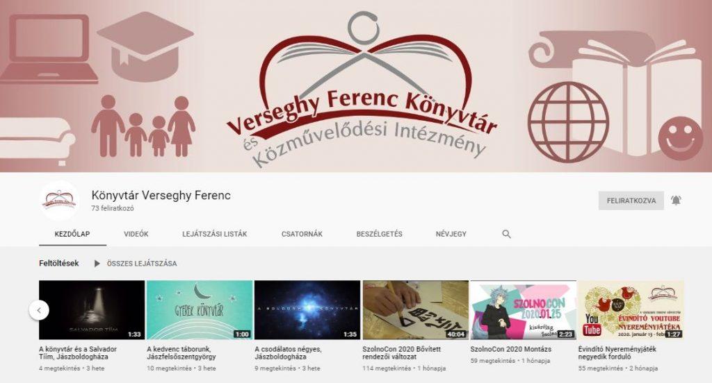 verseghy könyvtár youtube csatornája