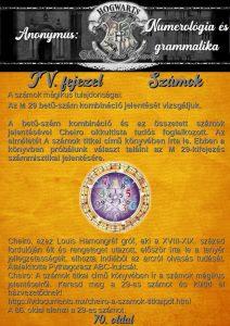 Számok. A számok mágikus tulajdonságai: Az M 29 betű-szám kombináció jelentését vizsgáljuk. A betű-szám kombináció és az összetett számok jelentésével Cheiro okkultista tudós foglalkozott. Az elméletét A számok titkai című könyvében írta le. Ebben a könyvben próbálunk választ találni az M 29-kifejezés számmisztikai jelentésére. Cheiro, azaz Louis Hamongréf gróf, aki a XVIII-XIX. század fordulóján élt és rengeteget utazott, először írta le a tenyér jellegzetességeit, elhozta Indiából az arcról olvasás tudását. Átalakította Pythagorasz ABC-kulcsát. Cheiro: A számok titkai című könyvében ír a számok mágikus jelentéseiről. Keresd meg a 29-es számot és küldd el házvezetődnek! https://vdocuments.mx/cheiro-a-szamok-titkaipdf.html A 86. oldal elemzi a 29-es számot.