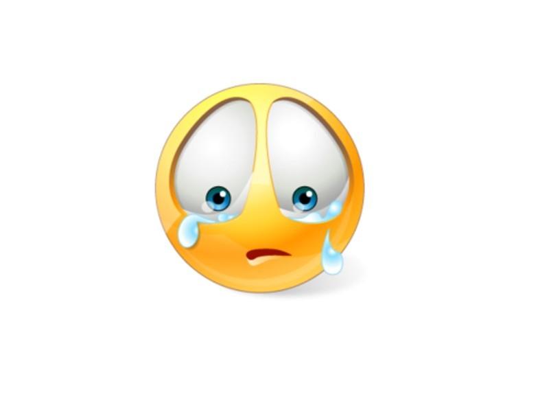 Szomorú arc képe