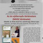 Az én ejtőernyős történetem (MHSZ története). 2020.07.23. Plakát.