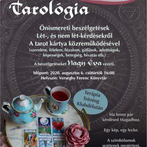 Tarológia Klub. 2020.08.06. Plakát