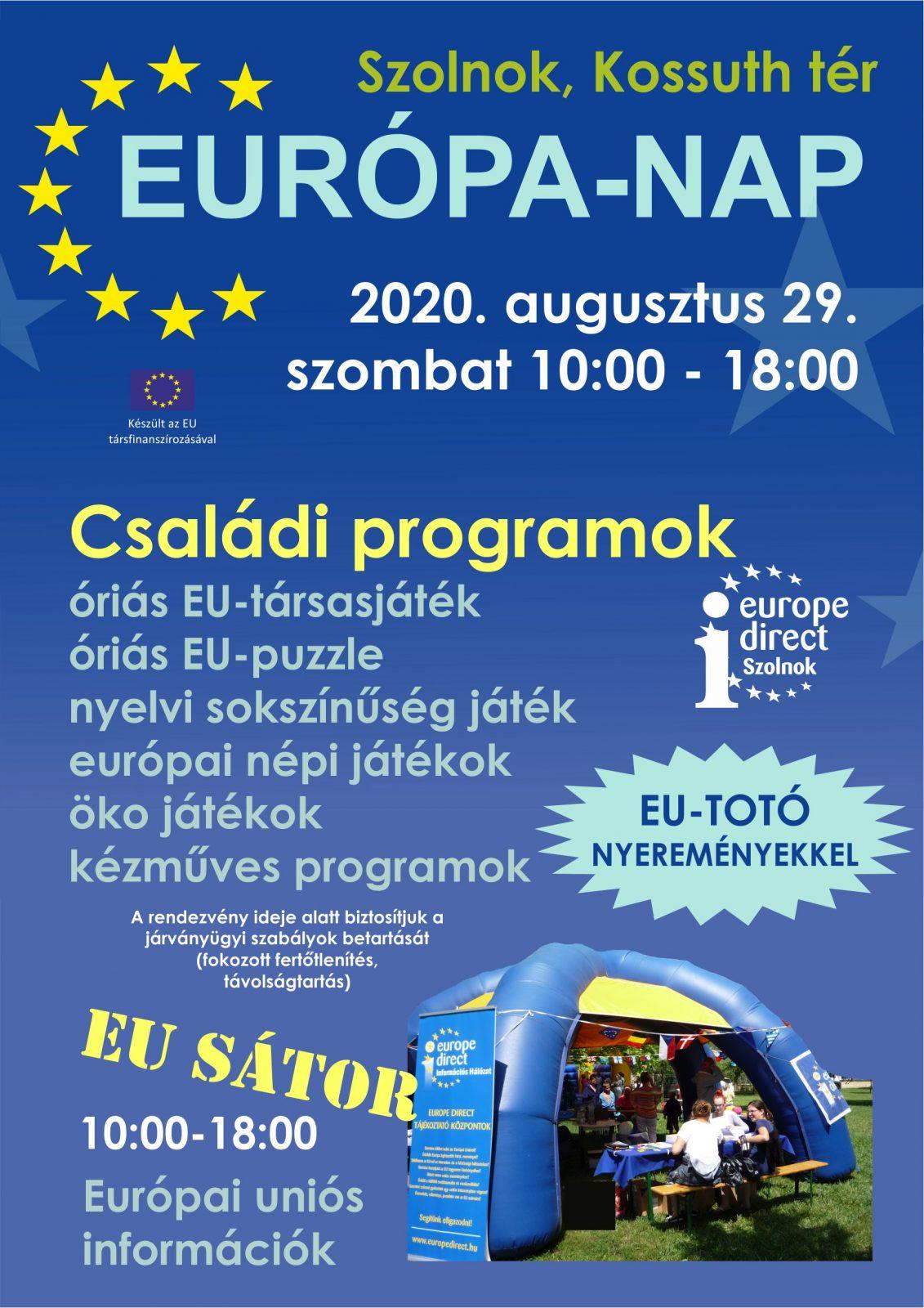 Európa nap. 2020.08.29. Plakát