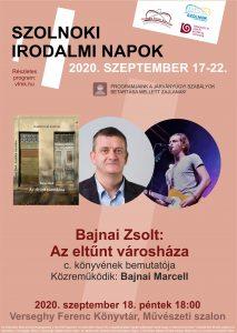 Bajnai Zsolt: Az eltűnt városháza. Könyvbemutató. Plakát. 2020.09.18.
