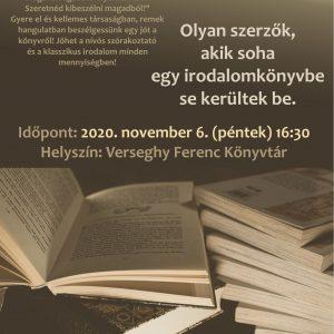 Olvasókuckó. 2020.11.06. Plakát