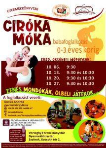 Októberi babafoglalkozás plakátja