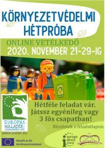 Környezetvédelmi hétpróba plakátja