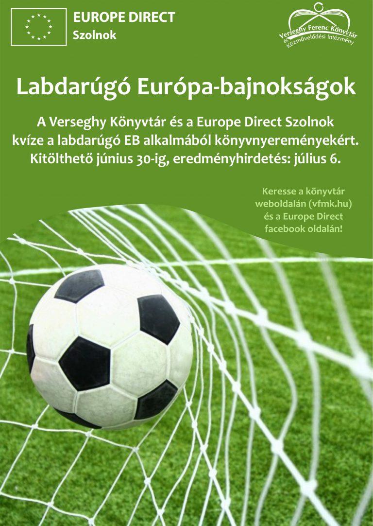 Labdarúgó EB kvíz. 2021. Plakát