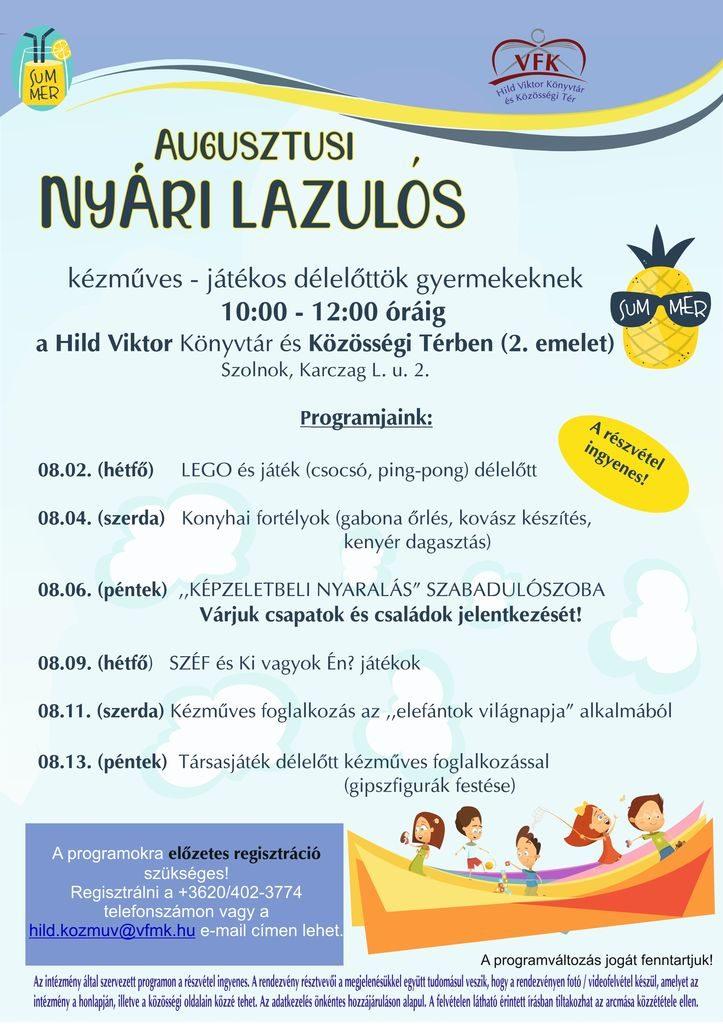 Augusztusi nyári lazulós 2021